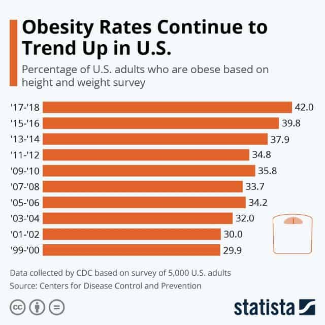 United States Obesity Rates Trends